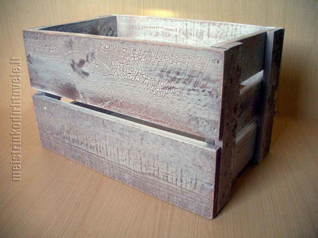 Dėžė daiktams sendinta | meistriuko dirbtuvėlė