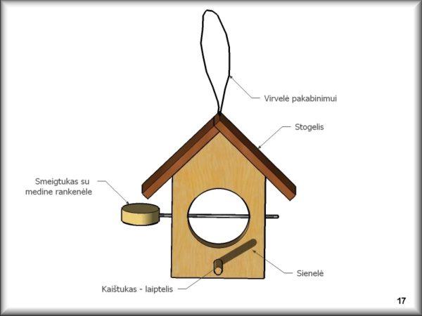 Lesyklėlės gaminimo brėžiniai | meistriuko dirbtuvele